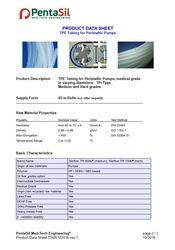 PENTASIL TPE Tubing for peristaltic pumps